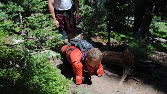 PHOTO: Kyle Maynard, 25, who was born without arms and legs, is seen hiking in Colorado in this file photo.