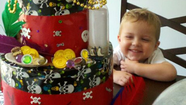 PHOTO: Three-year-old Landon Schultz can only eat seven foods because of a condition called FPIES.