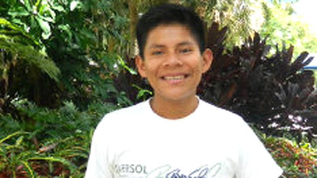 PHOTO: Luis Canelo, 17, has traveled from his village in the Peruvian Amazon to Miami for reconstruction surgery.