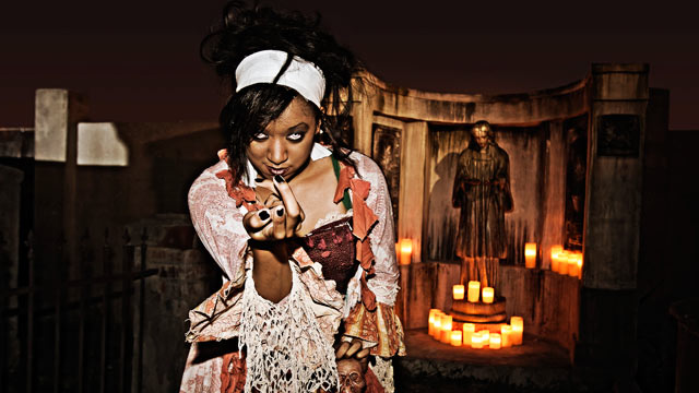 PHOTO: A character at the 13th Gate Haunted House in Baton Rouge, La. is shown.