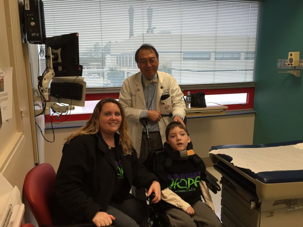 PHOTO: Valarie Weaver, Preston Weaver and Dr. Yong Park are pictured.