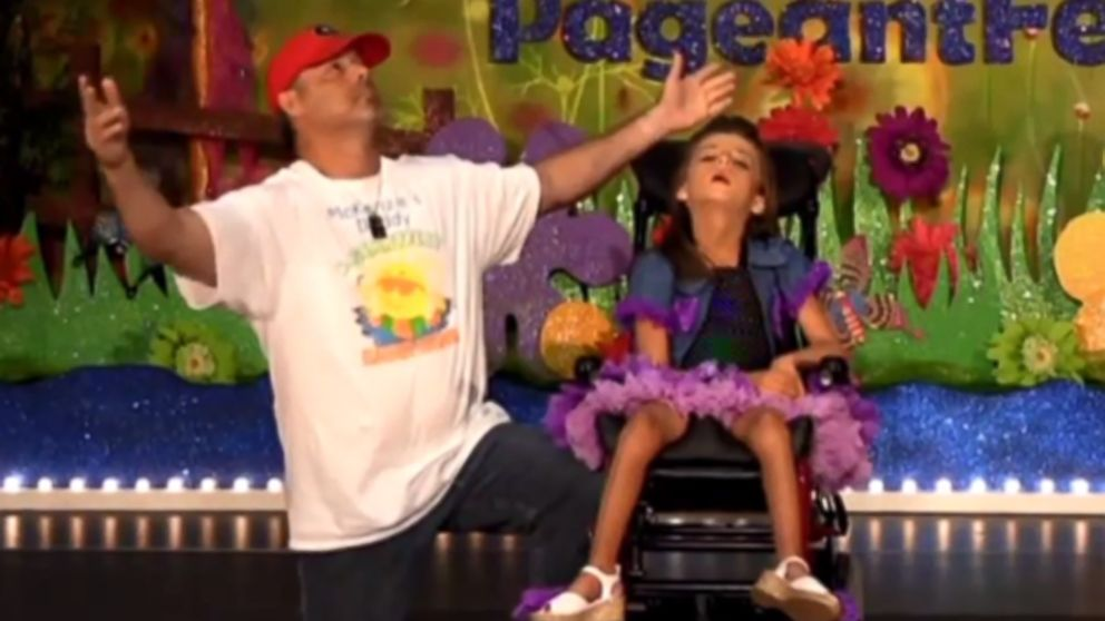 PHOTO: McKenzie Carey participates in pageants with the help of her dad.