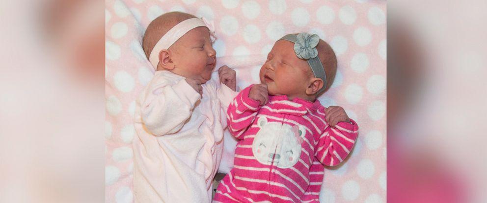 PHOTO: Merrick and Lennon born at Saint Lukes East Hospital in Lees Summit, Missouri.