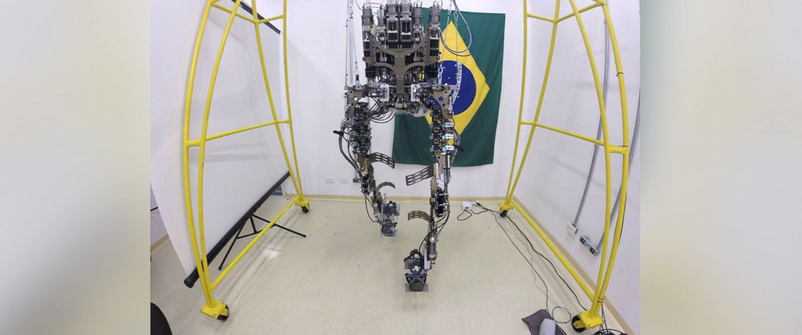 PHOTO: Researchers have less than two months before they debut the mind-controlled robotic suit at the world cup.