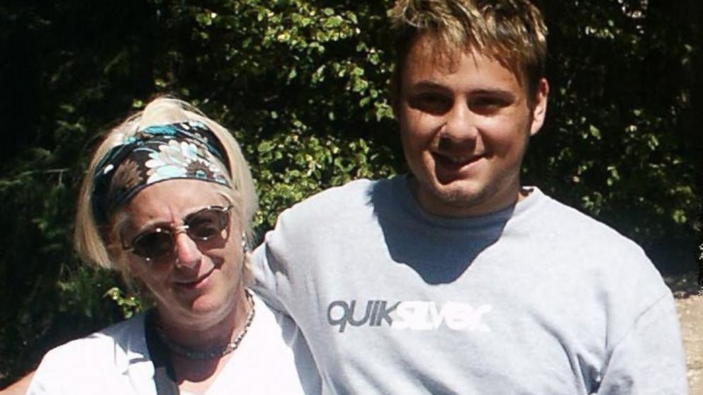 PHOTO: Joanne Minich, left, and her son Peter, right, who has schizophrenia, in 2009.