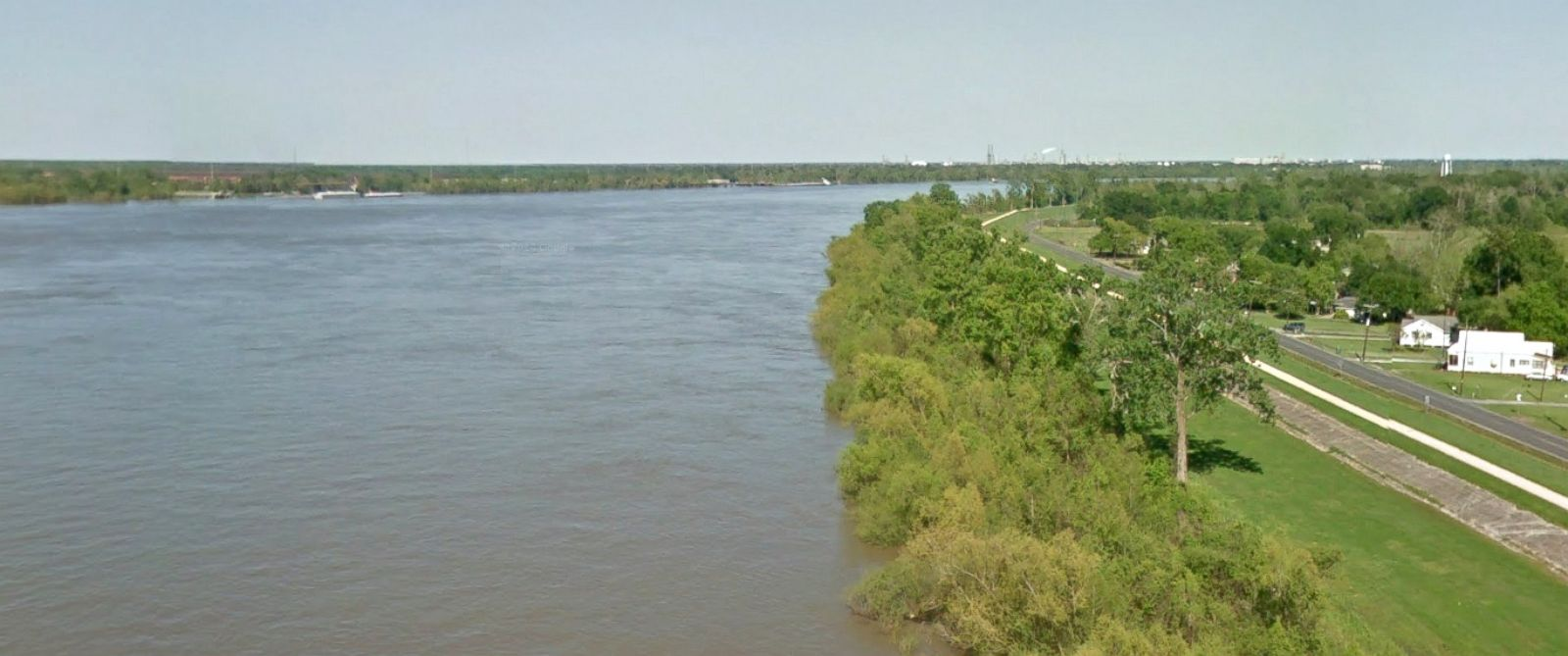 PHOTO: A Google Street View image from April, 2011 shows a section of the Mississippi River at St. John the Baptist Parish in Louisiana.