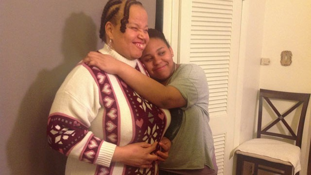 PHOTO: Bonnie Brown and her 15-year-old daughter Myra are seen in this undated handout photo. The high school honors student says her disabled mom is as capable a parent as any.