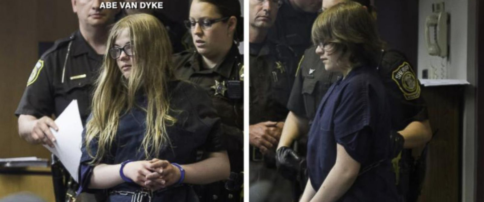PHOTO: Morgan Geyser and Anissa Weier, both 12, appeared in a Wisconsin court on June 2, 2014 on charges that they lured their friend into the woods and stabbed her 19 times.