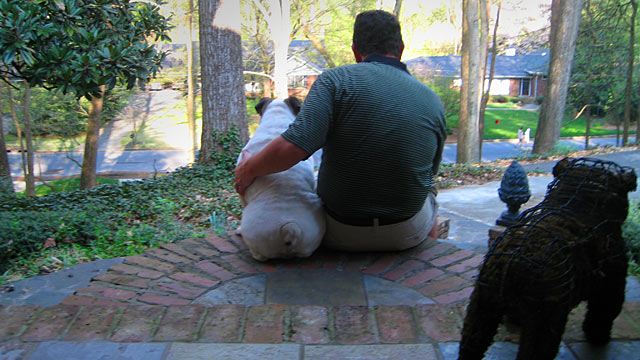 PHOTO:Seen here is Jim Davenport and his dog.