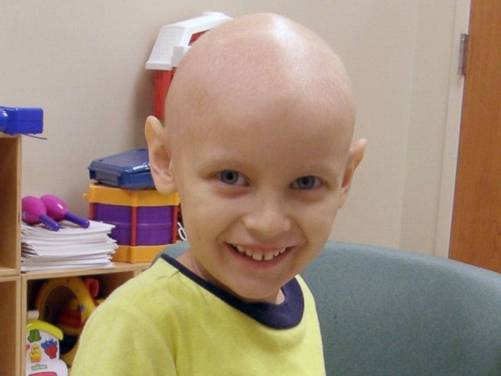 PHOTO: Noah Moudy, the boy depicted in a viral advertisement, was 4 when he was diagnosed with cancer. This is what he really looked like at the time.