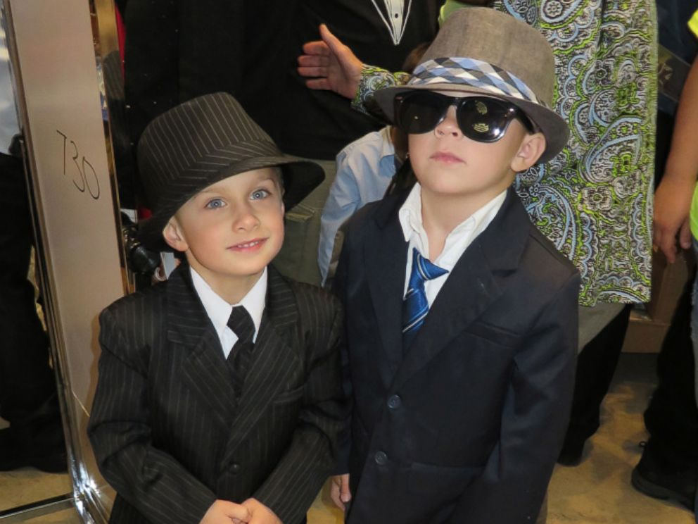 PHOTO: Two boys get ready for Memorial Sloan Ketterings Pediatric Prom at Promingdales.