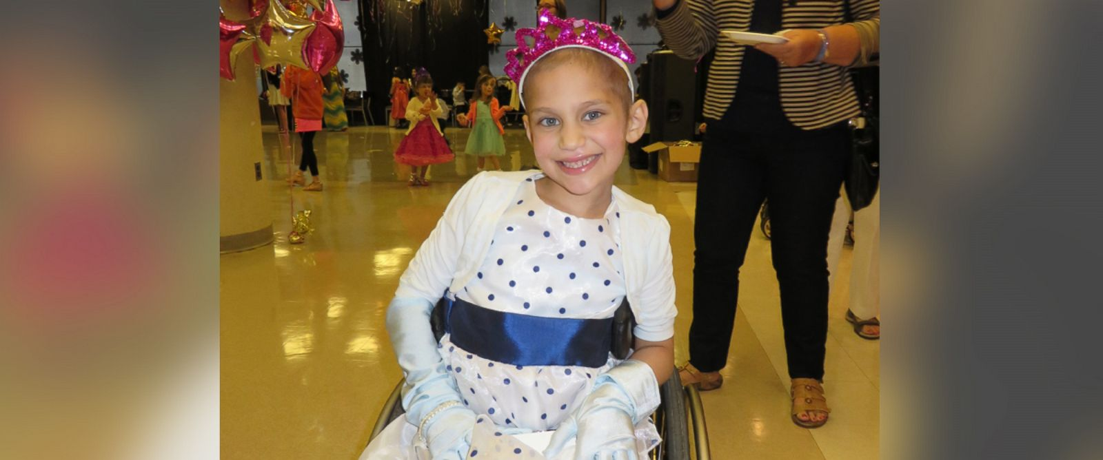 PHOTO: This Memorial Sloan Kettering patient is ready to party at the Pediatric Prom.