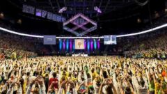 PHOTO: Penn States no-sitting-or-sleeping dance marathon raises a record $13.34 million for pediatric cancer.