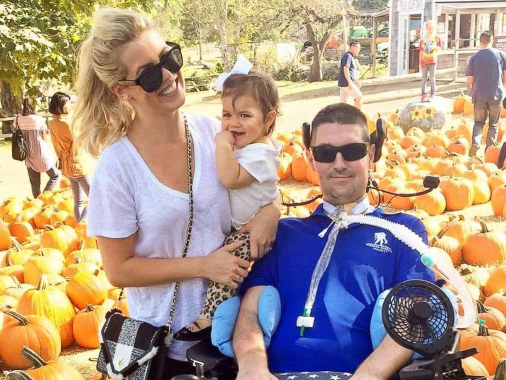Pete and Julie Frates are seen here with their daughter Lucy in this family photo.