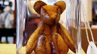 PHOTO A teddy bear made of human placenta has set off an international storm of disgust and support for the idea of making afterbirth into a keepsake.