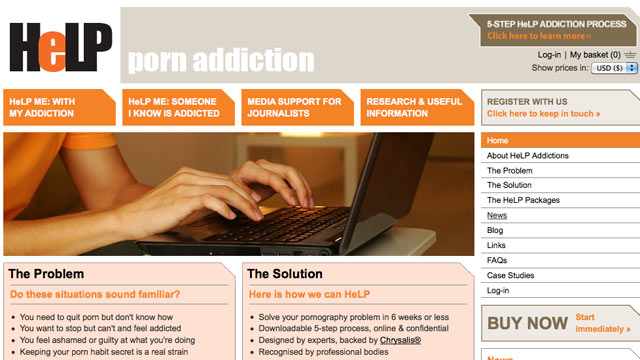 PHOTO: A new porn addiction site, helpaddictions.org/porn has been launched as a self-help and anonymous place for people with pornography addiction.