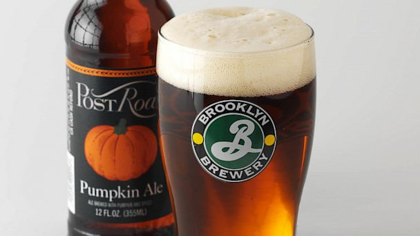 PHOTO: Post Road Pumpkin Ale bottle and in a glass