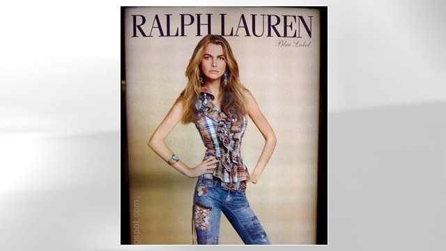 PHOTO:&nbsp;Photoshopped Ralph Lauren ad