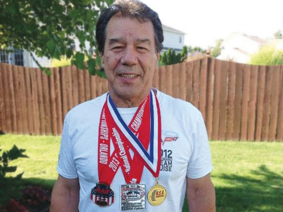 PHOTO: Ray Fougnier, 71-year-old Native American, is a champion power lifter.
