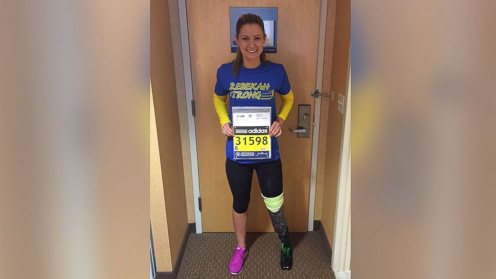 boston marathon bombing amputee crosses finish line   abc news
