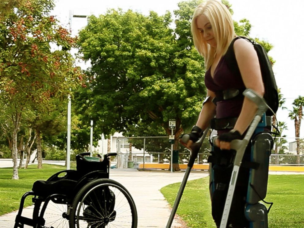 PHOTO: Exoskeletons could replace wheelchairs someday, but experts say theyre not there yet.