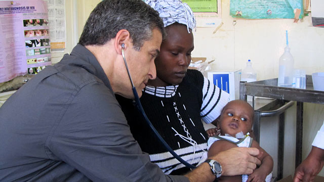 PHOTO: Seen here is Dr. Richard Besser visiting children with pneumonia in Kibera. He spent seven years working on respiratory infections at the Centers for Disease Control and Prevention.