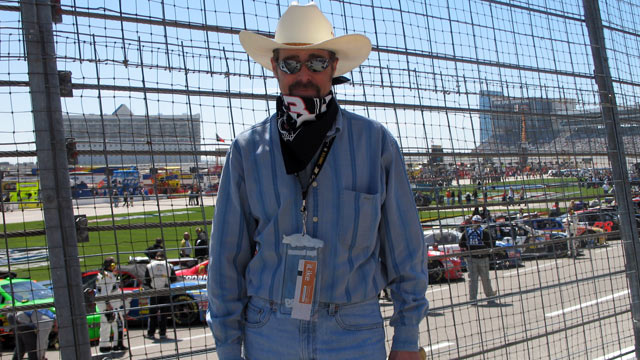 PHOTO:Robert Saupe visiting Texas in 2009. Because of his condition, his skin must be covered up from head to to, even in temperatures well above 90 degrees, as they were during this trip.