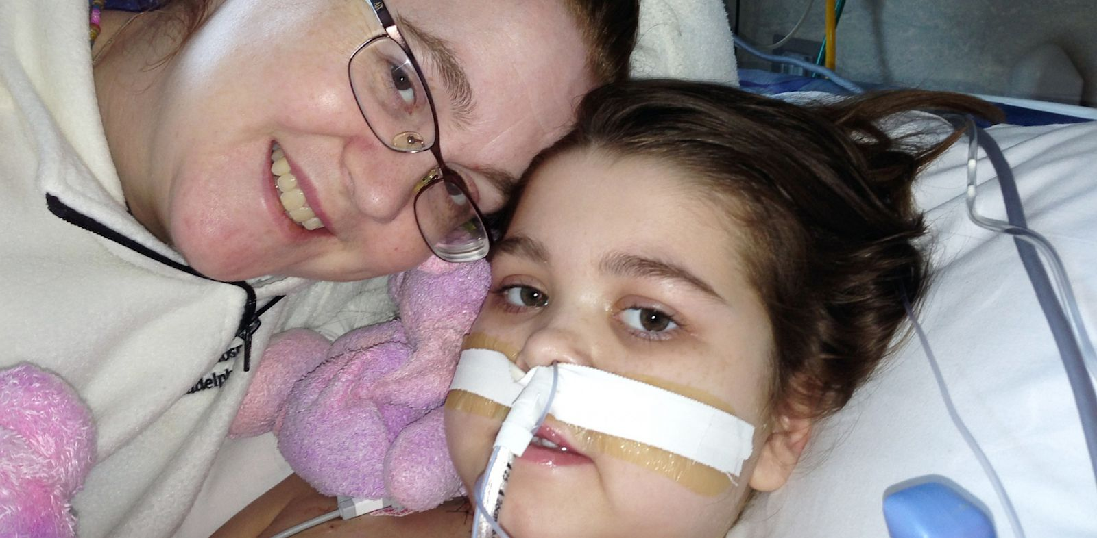 PHOTO: Sarah Murnaghan and mother Janet after Sarahs lung transplant