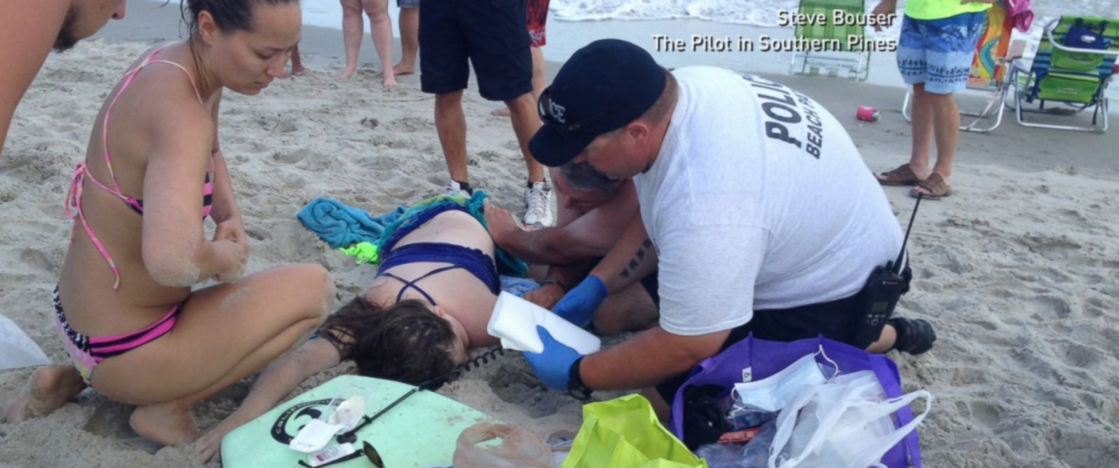 PHOTO: Kiersten Yow is pictured after a shark attacked her.