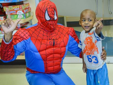 Spiderman Swings Into Action at Children's Hospital