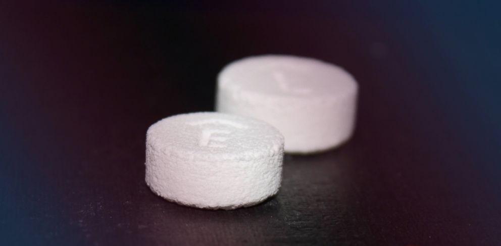 PHOTO: A photograph of a Spritam, a 3D printed drug from Aprecia Pharmaceuticals.