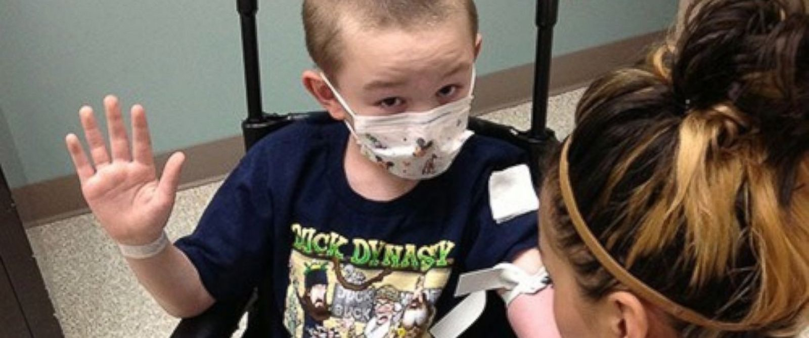 "PHOTO: Jaiden Rodgers has a rare skin disease that is causing him to ""turn to stone"" according to his mother."