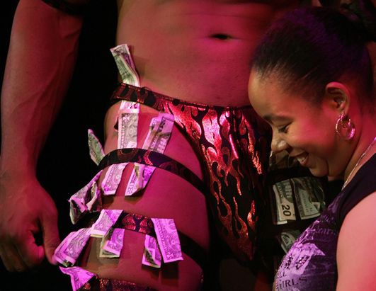 men stripping
