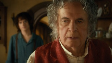 PHOTO: Elijah Wood as Frodo and Ian Holm as Bilbo Baggins in the fantasy adventure &quot;The Hobbit: An Inexpected Journey.&quot;