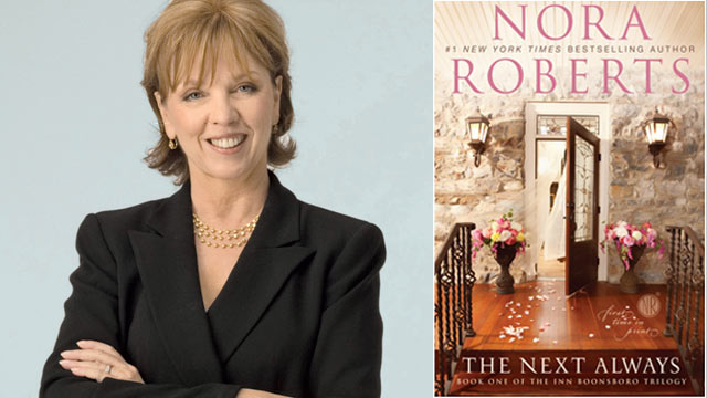 "PHOTO: Romance novelist Nora Roberts defends the value of her genre. Her latest steamy book is ""The Next Always."""