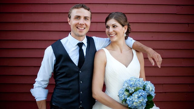 PHOTO: Julia Levine Rogers, 27, and Tom Rogers, 29, of Stowe, Vt., were married in August. Julia, like the majority of American women, decided to take her husband's surname.