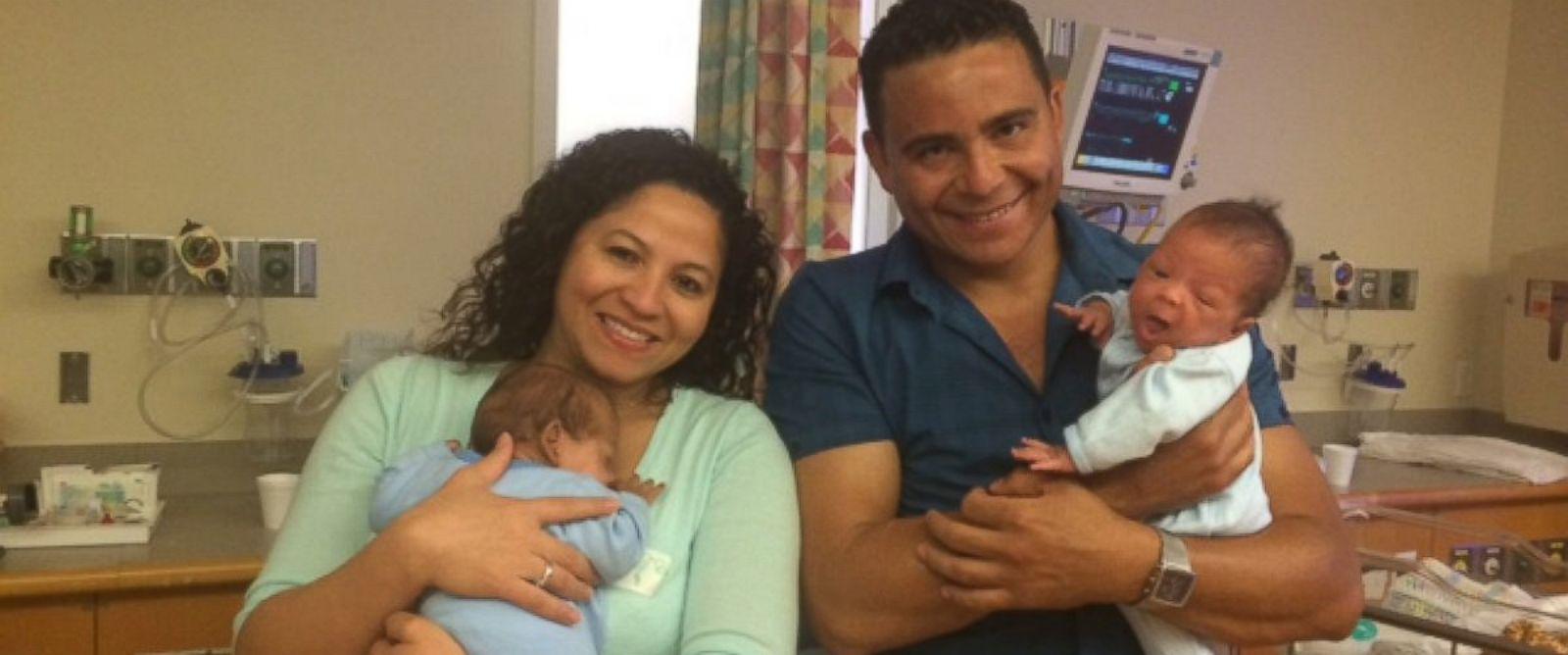 PHOTO: Twins boys Alexandre and Ronaldo were born 24 days apart.