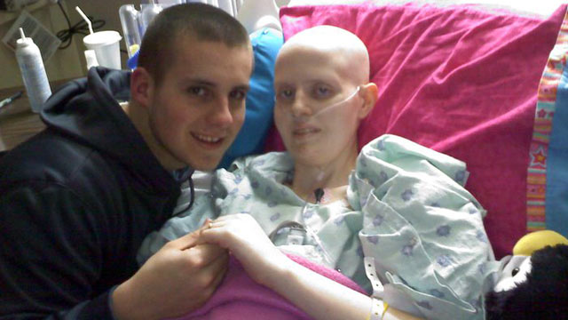 PHOTO: Zach Whiteman and Morgan Brantley are pictured together in this undated file photo days before Morgan succumbed to ovarian cancer.