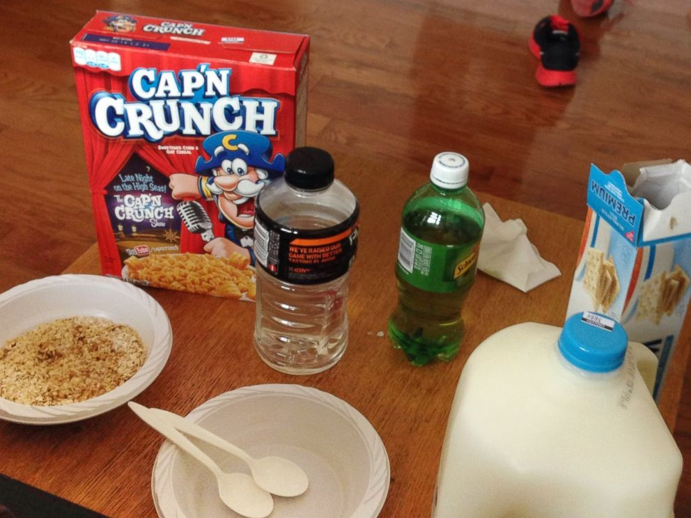 PHOTO: Before he knew what was wrong with him, Levy ate mostly cereal and bread, and drank mostly sports drinks and ginger ale.