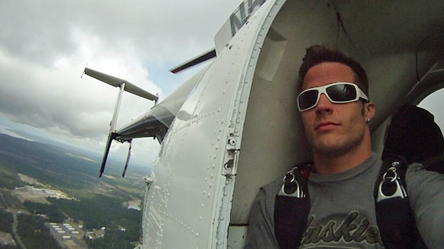 PHOTO: Zack Fogel, a 27-year-old quadriplegic, died Saturday after his parachute failed to op