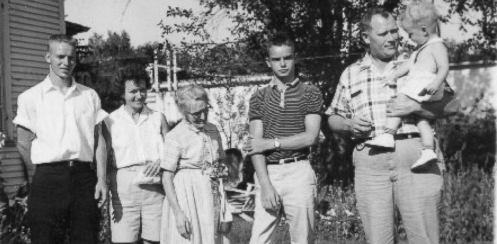 PHOTO: Kurt Sipolski, fourth from the left, and his mother Iris Mondy and other members of his family when they lived in Illinois.