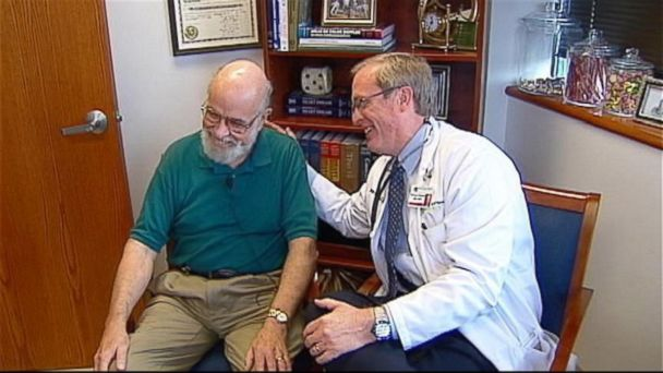 kmbc doctor glen hoges and george pierson jt 140531 16x9 608 Kansas Cardiologist Saves Doctor Who Trained Him