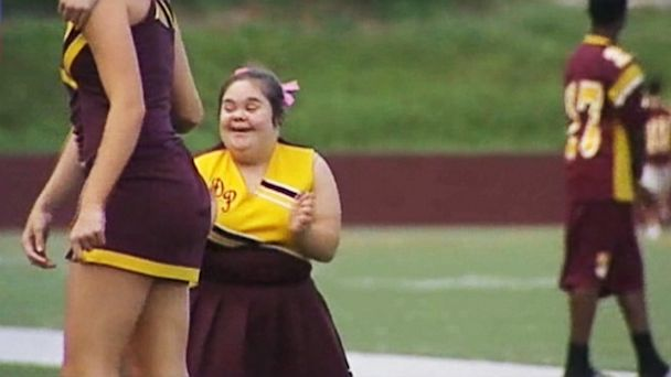 ktrk abc brittany davila ll 131004 16x9 608 Cheerleader With Down Syndrome Rejoins Squad After Safety Debate