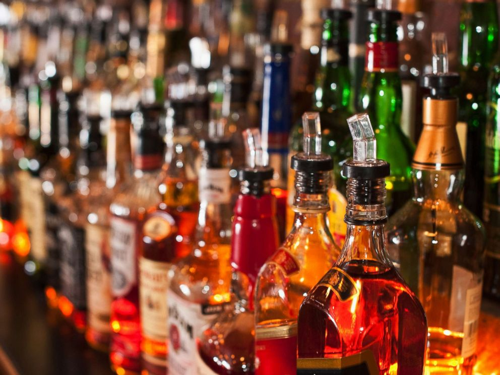 PHOTO: Bottles of liquor sit on a bar in an undated stock image.