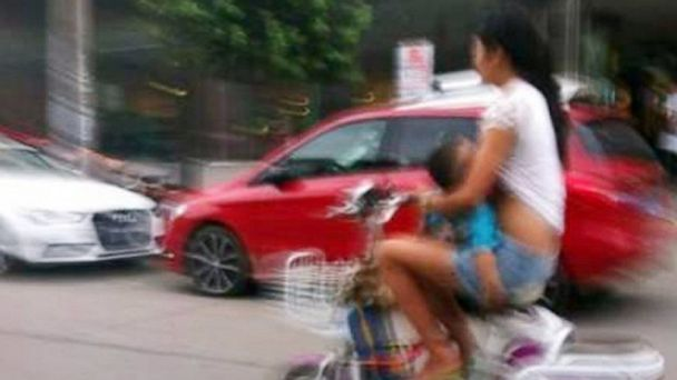 nc breastfeeding moped china ll 130910 16x9 608 Woman Warned About Riding While Breastfeeding