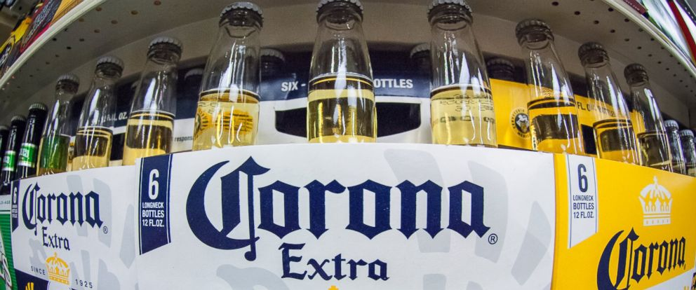 PHOTO: Bottles of Corona beer are in seen a supermarket in New York on April 10, 2014.
