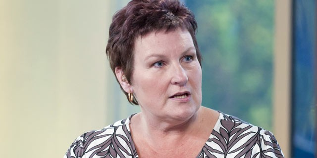 PHOTO: Jill Hawkins, surrogate mother, speaks on Daybreak TV program in London, England in this Oct. 22, 2010 file photo.