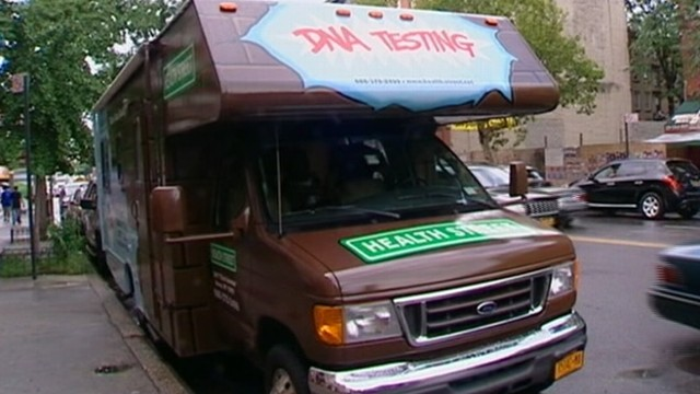 VIDEO: Mobile truck hits streets of New York City giving dads the chance to confirm their paternity.