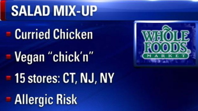 VIDEO: Mislabeled curried chicken salad and the vegan version could pose allergic risk.