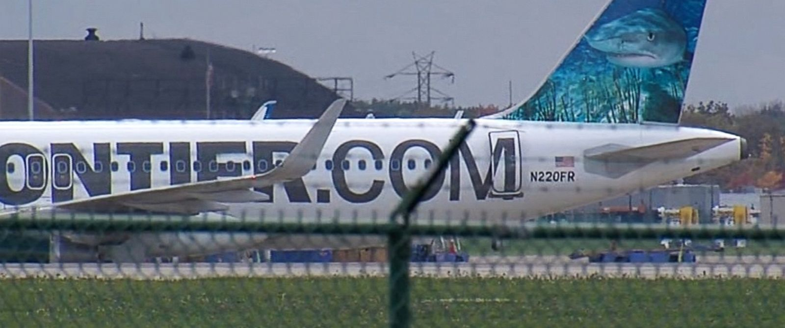 PHOTO: Frontier Airlines has confirmed that their plane, seen at Cleveland Hopkins International Airport on Oct. 15, 2014, is the plane that has been decontaminated after carrying a patient with Ebola from Cleveland to Dallas.